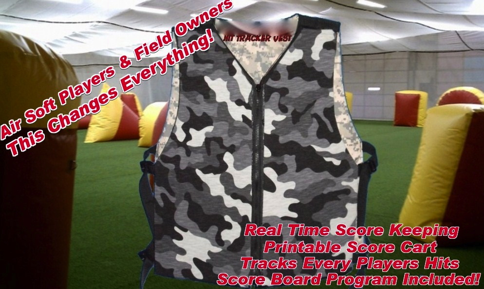 Hit Tracker Vest 4 Airsoft and Reballs