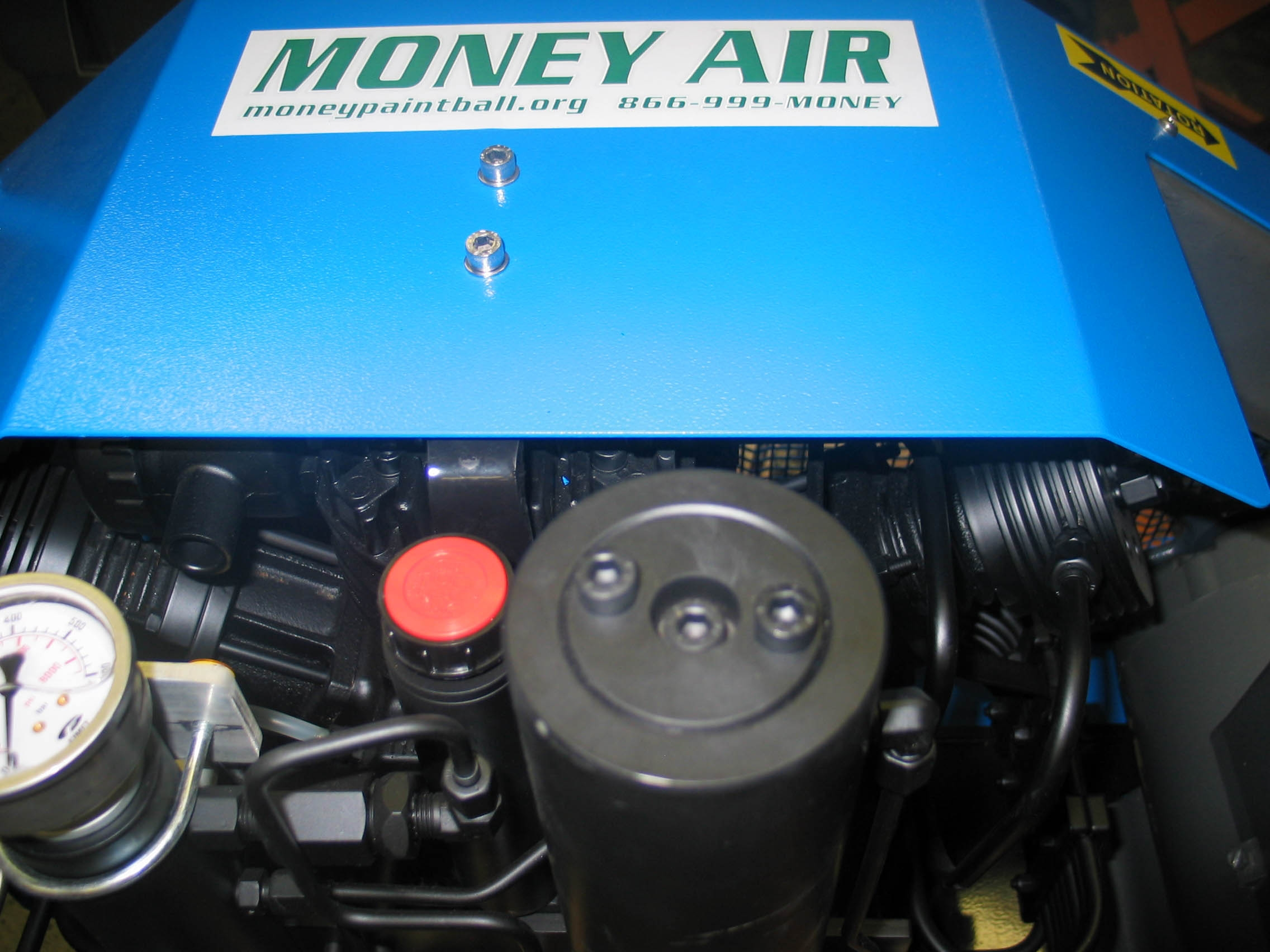 MONEY AIR 11 SCFM COMPRESSOR W/AUTO DRAINS, AUTO ON & OFF