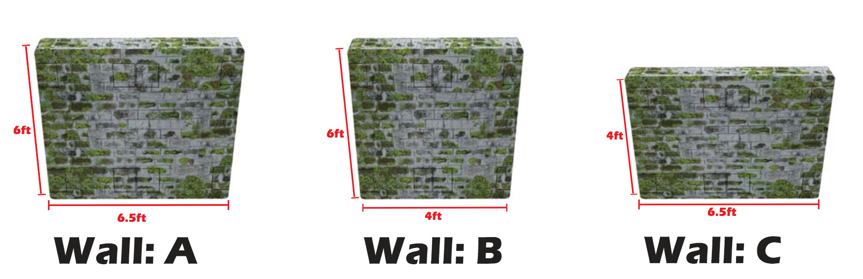 Tactical Bunkers for Paintball WALLS ABC Scenario