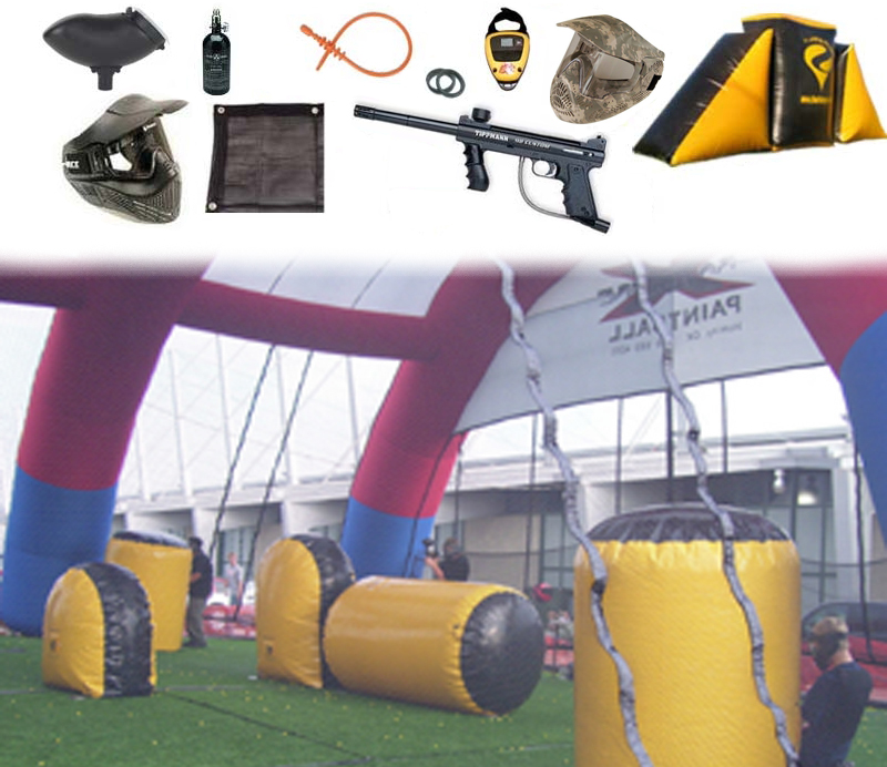 #6 INSTANT PAINTBALL PLAYING FIELD PACKAGE 50' x 100'