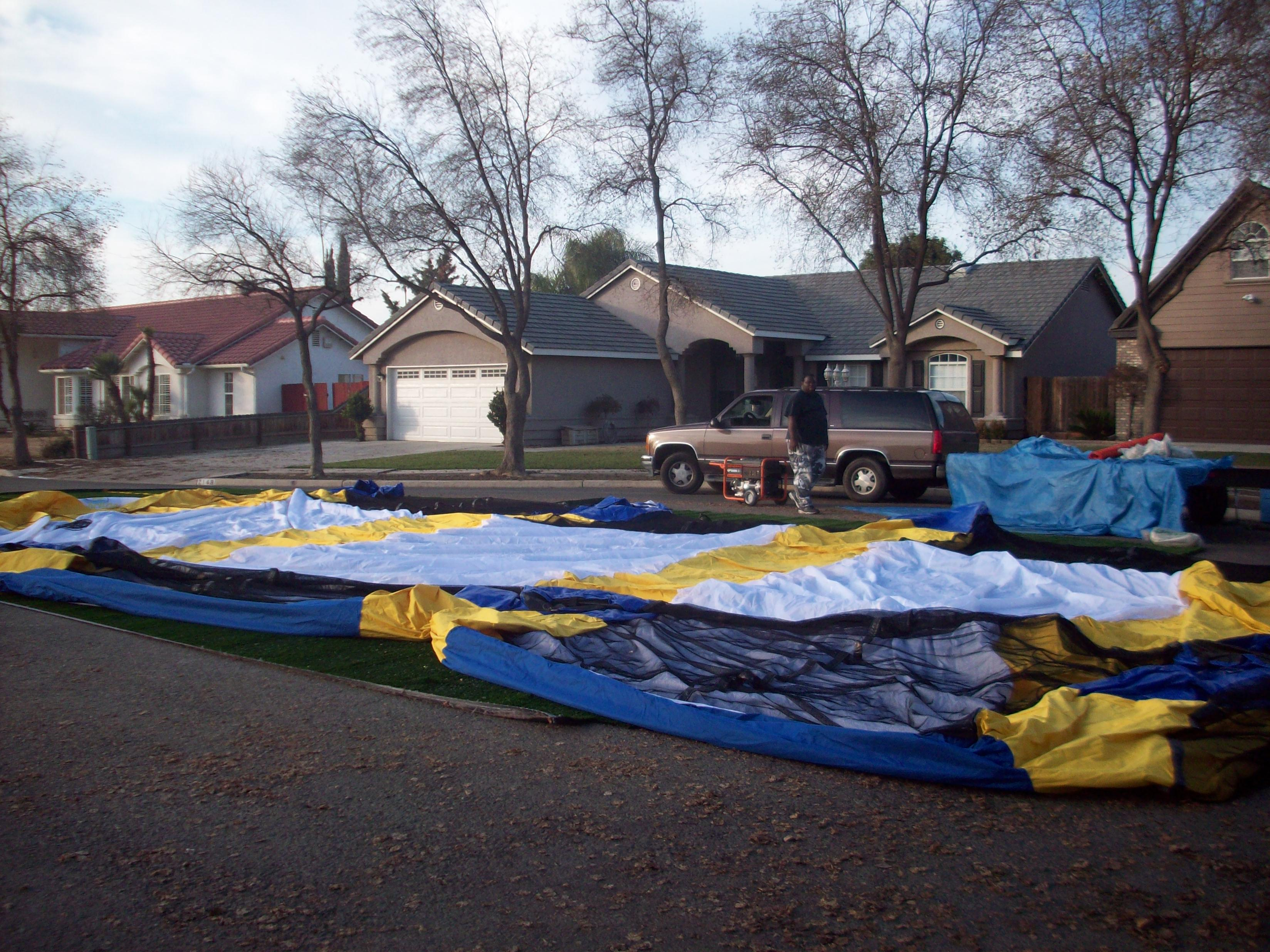 z Inflatable Paintball Field  Set Up STEP 2