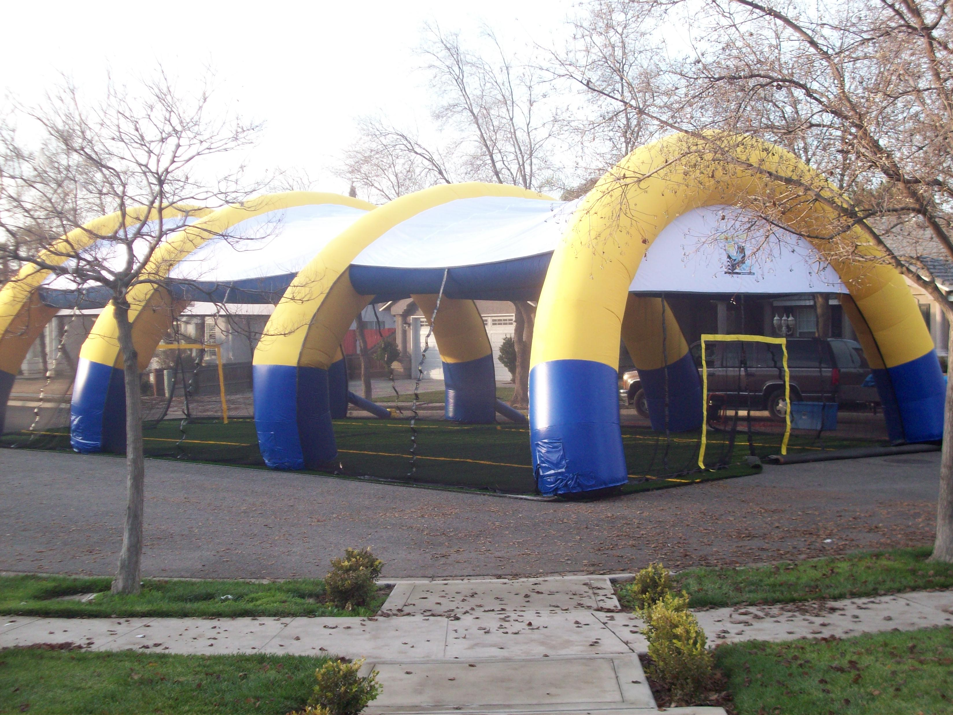 z Inflatable Paintball Field Set Up STEP 3