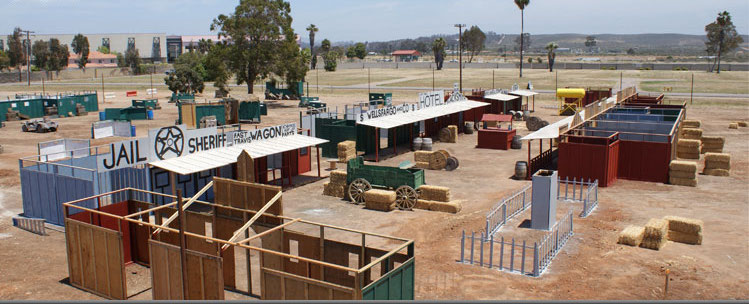PAINTBALL WILD WEST FIELD TOWN DESIGN