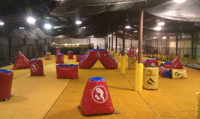 Wisconsin Indoor Brewcity Paintball uses Money Turf
